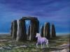 Stonehenge mit Einhorn ÖlLw 50x60 Februar 1989
