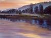 Sonnenuntergang ÖlLw 50x60 August 1995