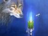 Wolf und Motte 70x50 ÖlLw April 2012
