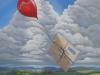 Luftpost (Ein Gruß an eine Freundin in Colorado) Öl/Lw 40x30 Dezember 2013
