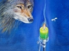 Wolf und Motte Öl/Lw 80cm x 60cm